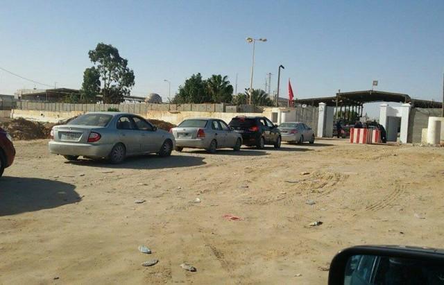 المعبر الحدودي -من جهة ليبيا