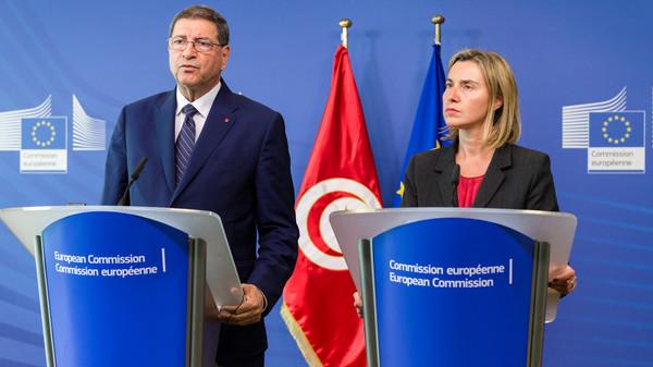 Federica Mogherini, Habib Essid