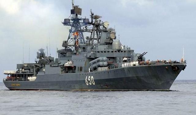 مدمرة روسية تعبر البوسفور باتجاه المتوسط