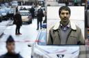 توفيق بلقاسم والد الشاب  التونسي طارق بلقاسم الذي قتلته الشرطة الفرنسية يوم 7  جانفي2015  أمام مركز أمن بباريس
