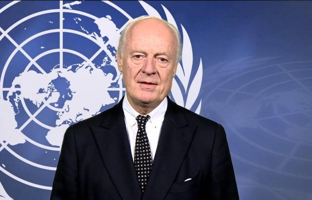 """وصف مبعوث الأمم المتحدة ستيفان دي ميستورا جولة المحادثات الجديدة حول اقرار السلام في سوريا التي تنعقد في جنيف يوم الاثنين بأنها """"لحظة الحقيقة."""""""
