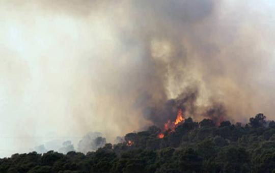 feu montagne حريق جبل