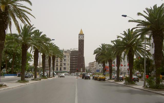Avenue Mohammed5  tunis ville  شارع  محمد الخامس