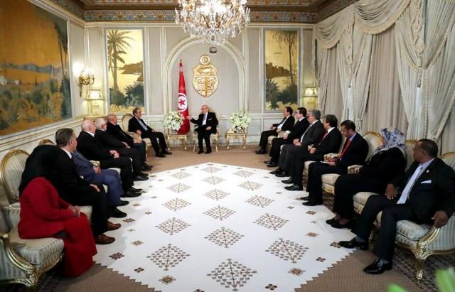 لقاء رئيس الجمهورية مع رئيس المجلس الأعلى للدولة بليبيا