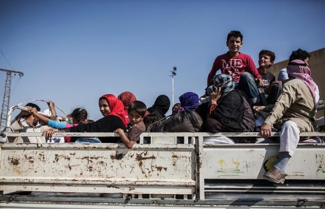 SYRIA-KURDS-TURKEY-REFUGEES- syrie  سوريا لاجئيين أكراد