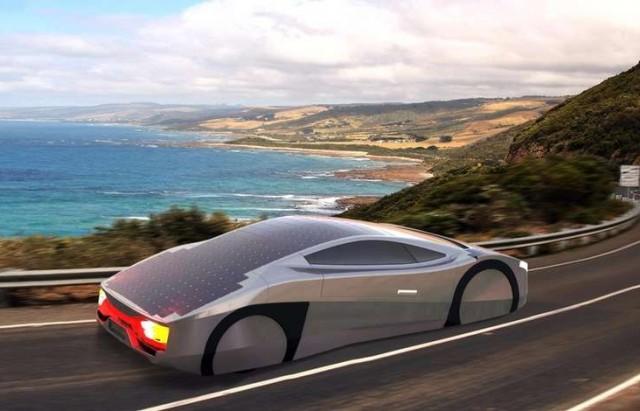 سيارة بالطاقة الشمسية