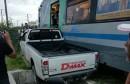 حمام الشط تعطل حركة سير القطارات نتيجة اصطدام قطار بشاحنة