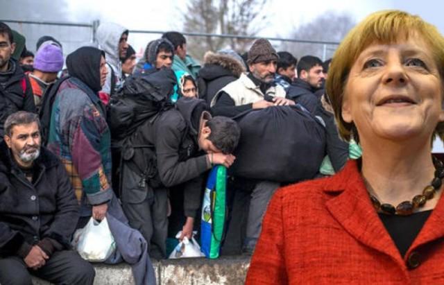 ميركل و اللاجؤون