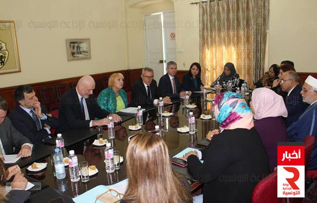 وفدين من البرلمان التونسي والألماني