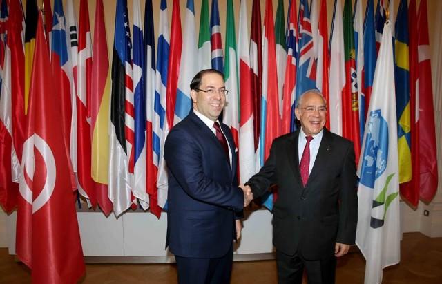 رئيس الحكومة يتحادث بباريس مع الأمين العام لمنظمة التعاون والتنمية الإقتصادية