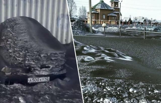 شاهد: ثلوج سوداء في سيبيريا بسبب التلوث