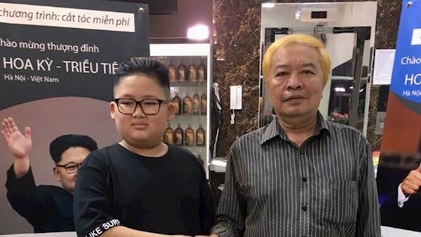 مصفف شعر يقدم لزبائنه  تصفيفة شعردونالد ترامب  وكيم جونج أون مجانا