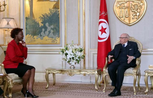 رئيس الجمهورية يلتقي الامينة العامة العامة للمنظمة الدولية للفرنكوفونية