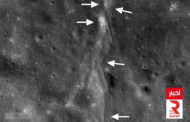 القمر بدأ يتصدع ويشهد زلازل على سطحه