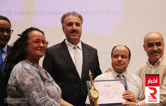 لجائزة الأولى في الدورة العشرين لمهرجان الاذاعة والتلفزيون في صنف التبادلات البرامجية