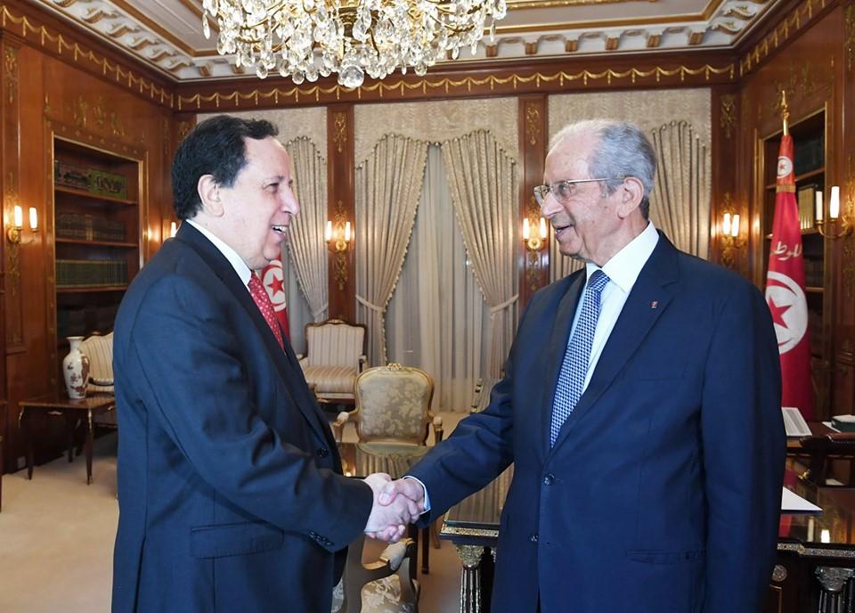 رئيس الجمهورية يلتقي بوزير الخارجية