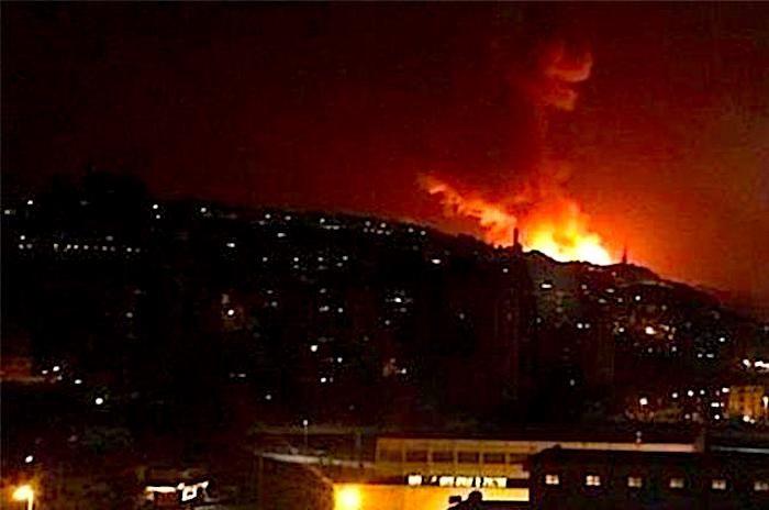 صاروخ من سوريا الى اسرائيل