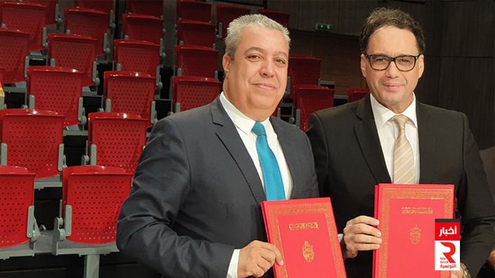 توقيع-اتفاقية-إطارية-بين-وزارة-الشؤون-الثقافية-ومؤسسة-التلفزة-الوطنية