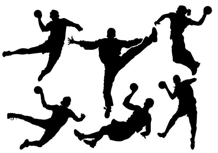 free-handball-silhouette-vector