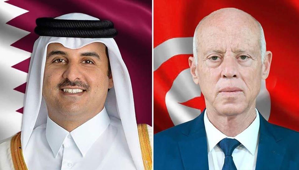 سعيد و الشيخ تميم بن حمد امير دولة قطر
