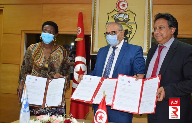 توقيع إتفاقية إطارية للشراكة بين وزارة التجارة وبرنامج الأغذية العالمي والمعهد الوطني للاستهلاك