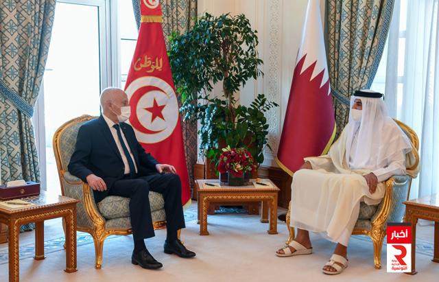 رئيس الجمهورية يلتقي الأمير حمد بن خليفة